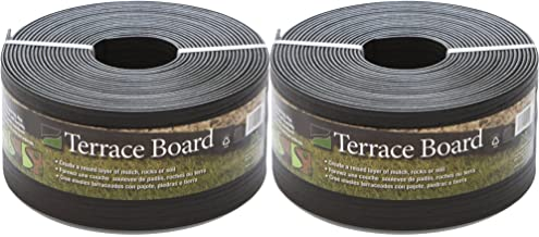 """5"""" Black Terrace Board, 40' with 10 Stakes, 2-Pack"""