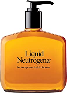 Liquid Neutrogena Fragrance-Free Gentle Facial Cleanser with Glycerin, Hypoallergenic & Oil-Free Mild Face Wash, 8 fl. oz