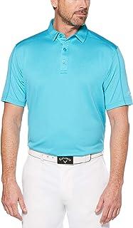 Callaway Men' Opti-Dri Denim Jacquard Short Sleeve Golf Polo Shirt