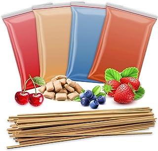 4 x 200 g de sucre aromatique + 50 bâtonnets de barbe à papa   cerise – fraise – myrtille – 4 types de sucre avec goût pou...