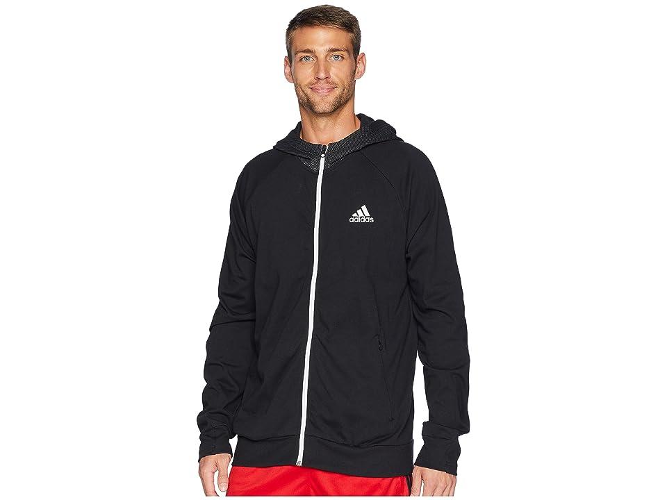adidas Sport 2 Street Lifestyle Hoodie (Black/Black) Men