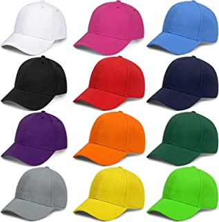 Ultrafun 10 Pack Unisex Baseball Hat Adjustable Plain Solid Color DIY Baseball Caps Dad Hat for Outdoor Sports Hiking