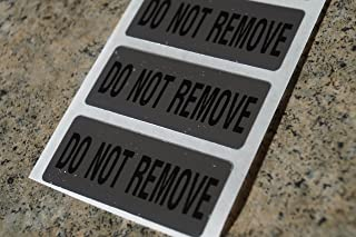 100 Do Not Remove Chrome Tamper Evident High Security Labels Stickers (1.75 Inch X .75 Inch)