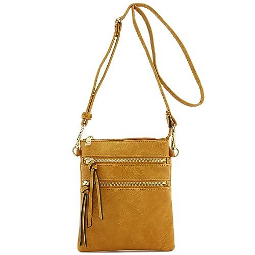 aa7045991559 Leather Crossbody Bag Yellow: Amazon.com