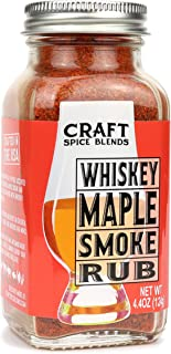 Whiskey Maple Smoke - All Purpose Rub / Seasoning - Craft Spice Blends - Smokehouse Specialty Rub - Dry Rub for Smoking Meat - Jerky Seasoning