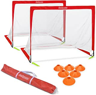 GoSports Premier Portable Pop Up Soccer Goals for Backyard - Kids & Adults - Available in 4' and 6' Sizes