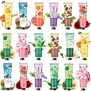 18 Pack 2021 Hand Cream Hand Lotion for Dry Cracked Hands,Working Hands Hand Care Cream Travel Gift Set With Natural Aloe ...