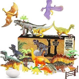 WOSTOO Dinosaur Toys Set, 23pcs Educational Dinosaur Toys Playset Realistic Dinosaur Figures Jurassic World Dinosaurs Toy ...
