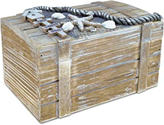 Puzzled COTA Global Large Baja Vintage Wooden Jewelry Box - 9