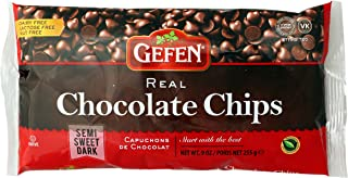 Gefen Semi Sweet Real Chocolate Chips, Dairy Free 9OZ (3 Pack)
