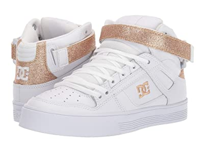 DC Pure High Top V (White/Gold) Women