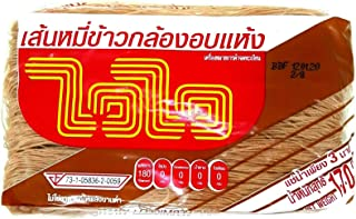 100% Dehydrated Brown Rice Vermicelli Healthy Thai Cook Delicious Noodles