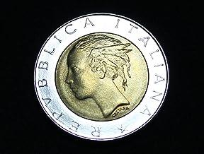 イタリア 貨幣 500リラ(バイメタル) ユーロ前 1984年