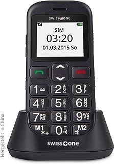 swisstone BBM 320c   GSM Mobiltelefon mit großem beleuchtetem Farbdisplay, schwarz