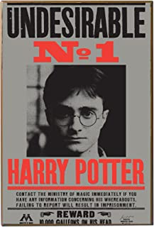 Silver Buffalo HP9636 Harry Potter Undesirable No. 1 Deathly Hollows Movie Printed Wood Wall Signs, 13 x 19 inches