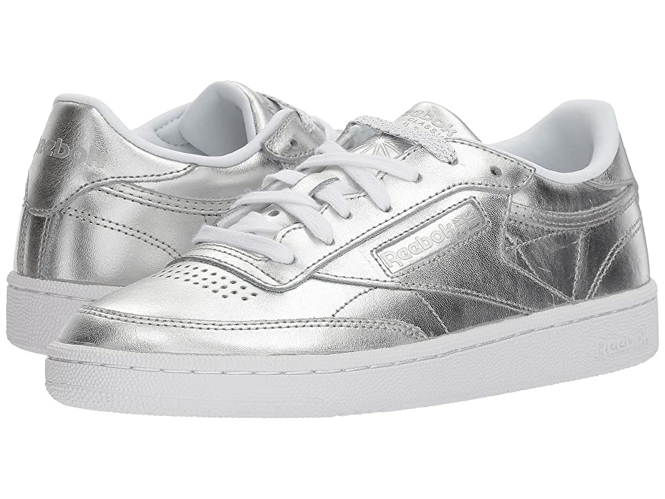 Reebok Lifestyle Club C 85 S Shine (Silver/White) Women