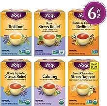 Yogi Tea - Stress Relief and Herbal Tea Variety Pack Sampler - 6 Pack, 96 Tea Bags Total