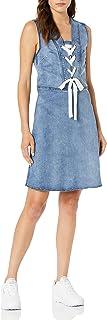 Lola Jeans Womens Brianna-Bay Brianna Dress Sleeveless Dress - Blue