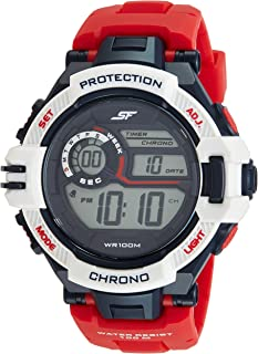 Sonata Fibre (SF) Digital Grey Dial Men's Watch-77075PP01