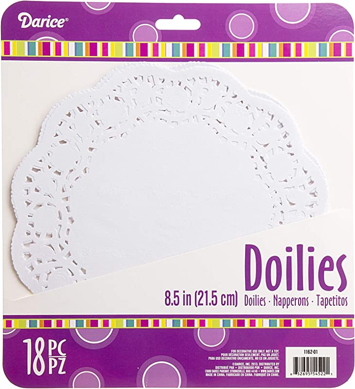 Darice Paper Doilies Round White 8 5 Inches 18 Pieces