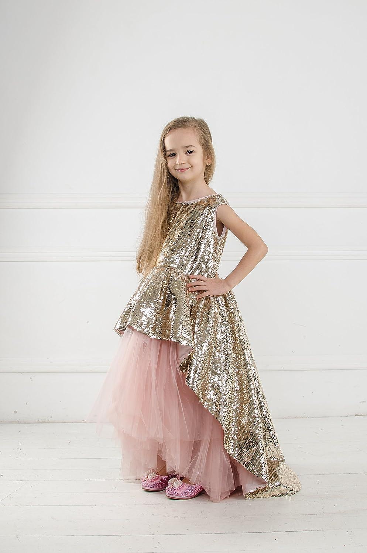 Amazon.com Princess sequin tutu dress Flower girl sequin dress ...