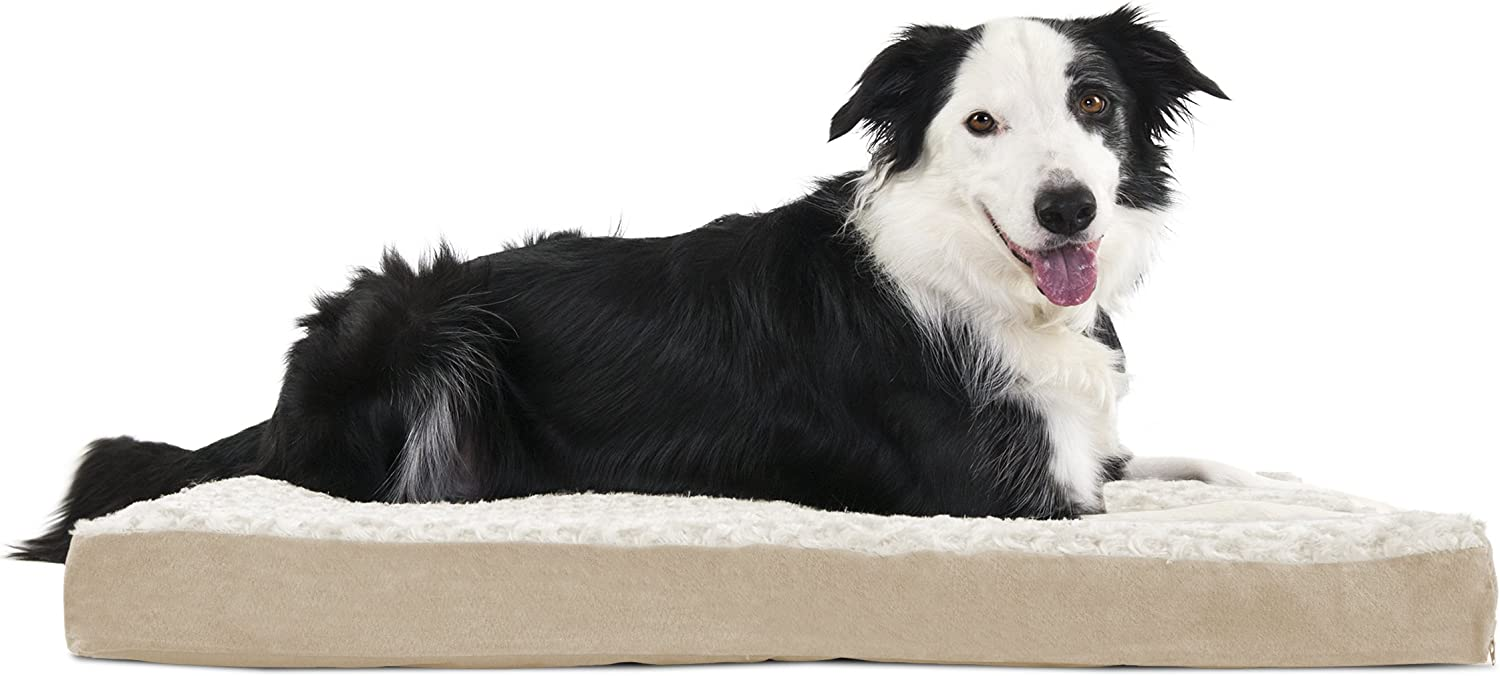 Furhaven Pet Dog Bed   Deluxe Memory Foam Ultra Plush Mattress Pet Bed for Dogs & Cats, Cream, Large