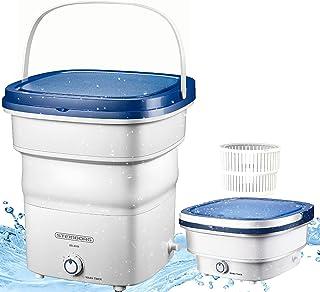 Mini machine à laver pliable, jusqu'à 1,5kg, lave-linge de voyage, de camping, portable, puissance: 135W, processus de ...