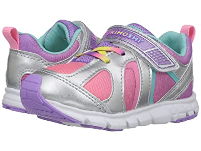 Tsukihoshi Kids Rainbow (Toddler/Little Kid) (Silver/Lavender) Girls Shoes