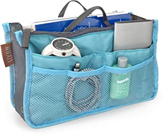 "Hoxis Insert Organizer 13 Pockets Organizer Purse 10.6"" X 6.3"" Bag in Bag"