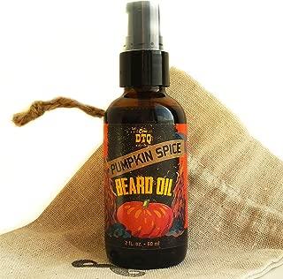 OneDTQ Pumpkin Spice Beard Oil - 2 FL OZ - In a Mustache Stamped Linen Pouch