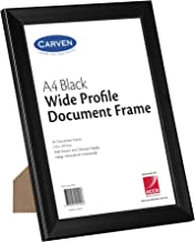 CARVEN 40053 Document Frame Plastic Black A4