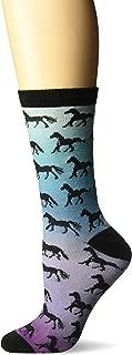 K. Bell Women's Horses Novelty Casual Crew Socks