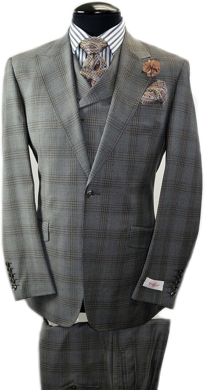 Tiglio Rosso Italian Wide Leg Suit~Model: San Giovesse RF2654/1