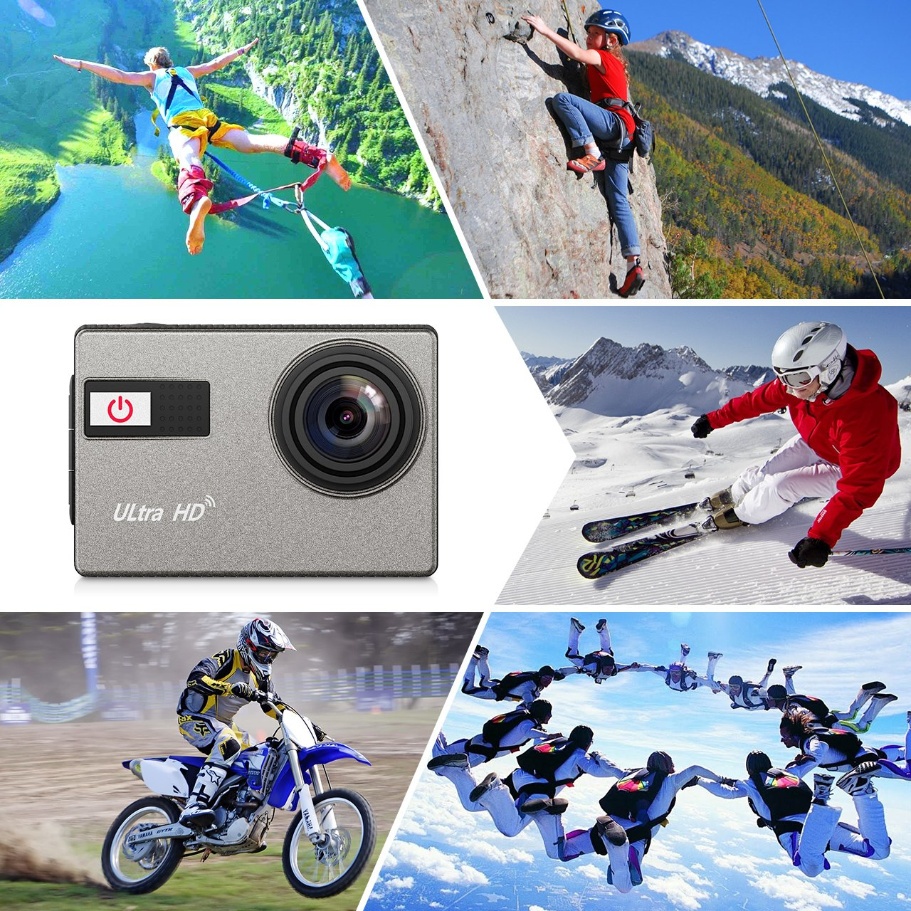 VicTsing Cámara Acuática 4K Sumergible WiFi, 4K Vídeo y 12MP Foto ...