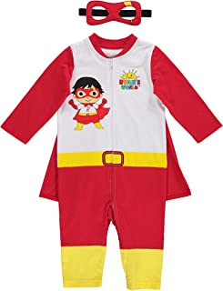 Red Titan Toddler Boys Costume Coverall Cape Mask Set 5T