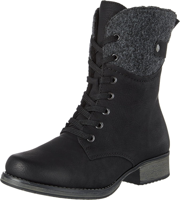 Rieker Women Ankle Boots Black, (schwa Anth) Y9704-00