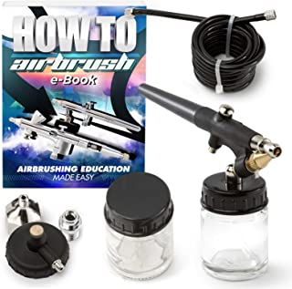 PointZero Single-Action 22cc Siphon-Feed Airbrush Set - .8mm Nozzle