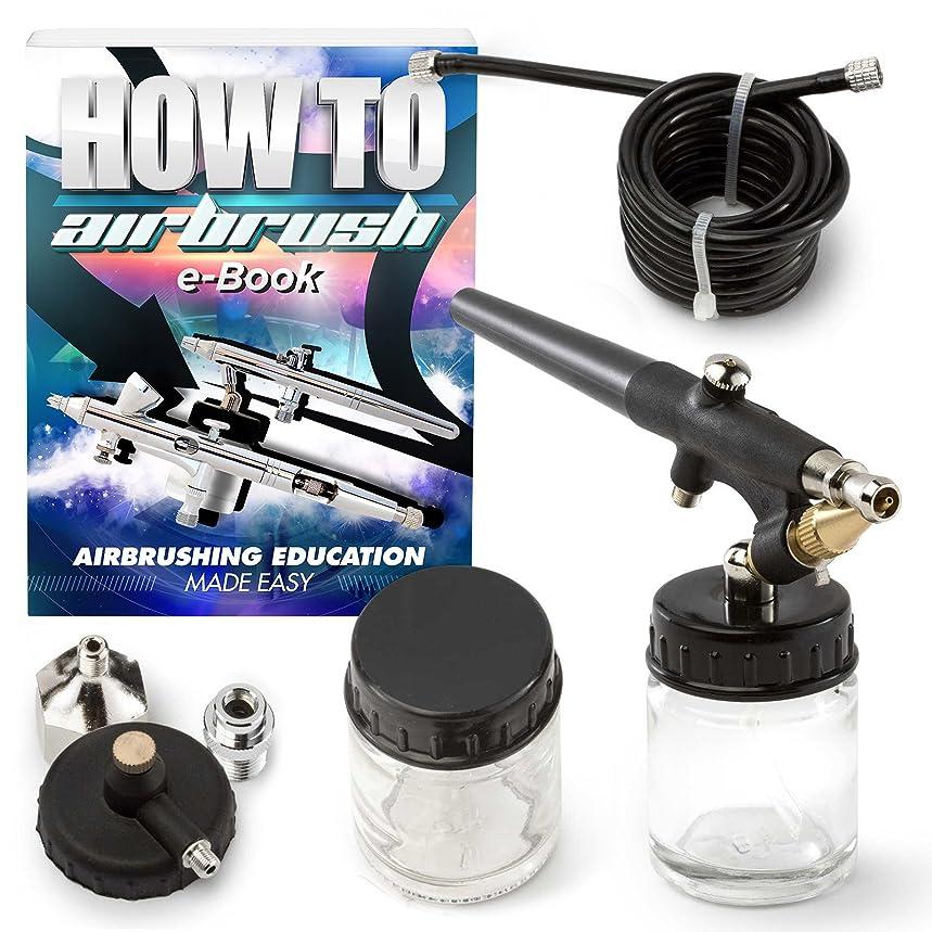 PointZero Single-action 22cc Siphon-feed Airbrush Set - 0.8mm Nozzle