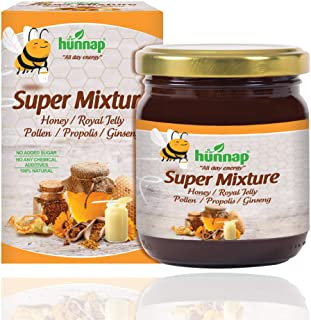 Hunnap All Natural Honey Super Mixture for Everyday Support | Enriched with Ginseng Extract, Royal Jelly, Propolis & Polle...