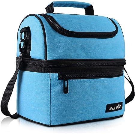 Hap Tim Sac Isotherme Repas Femme & Homme, Lunch Box Bag Isotherme Femme, Glaciere Souple Isotherme, 7.5L Sac Repas Pour Enfant Travail PiqueNique - Bleu EU16040-BL