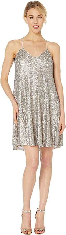 Sequin Trapeze Cocktail Dress