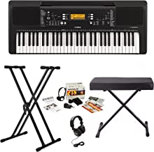 Yamaha PSRE363 Keyboard with Survivalkit, Headphones, Knox Stand and Bench