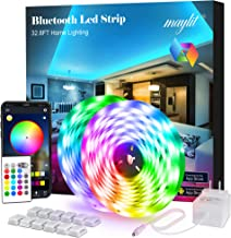 maylit Led Strip Lights, 32.8ft Bluetooth APP Controller RGB LED Light Strip, 5050 LEDs Music Sync Color Changing LED Stri...