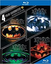 4 Film Favorites: Batman Collection (Batman / Batman Returns / Batman Forever / Batman & Robin)