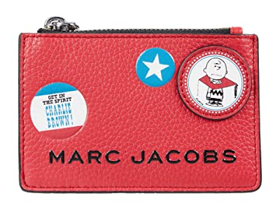 Marc Jacobs The Box Peanuts Americana Top Zip Multi Wallet (Red Multi) Wallet Handbags