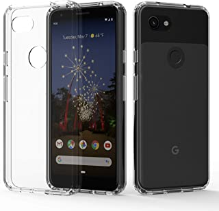 Google Pixel 3a Case,Pixel 3a Phone Case,ShinyMax Transparent Hybrid Armor Protective Cover Flexible Sturdy Shockproof Slim Case Compatible with Google Pixel 3a (2019) -Clear