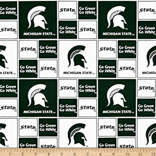 Sykel Enterprises 0317849 Collegiate Cotton Broadcloth Michigan State Fabric by The Yard