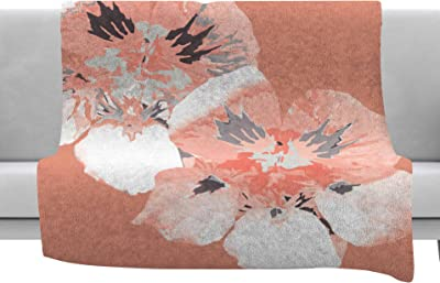60 by 50 Kess InHouse Catherine McDonald Hope for Tomorrow Pink Green Fleece Throw Blanket