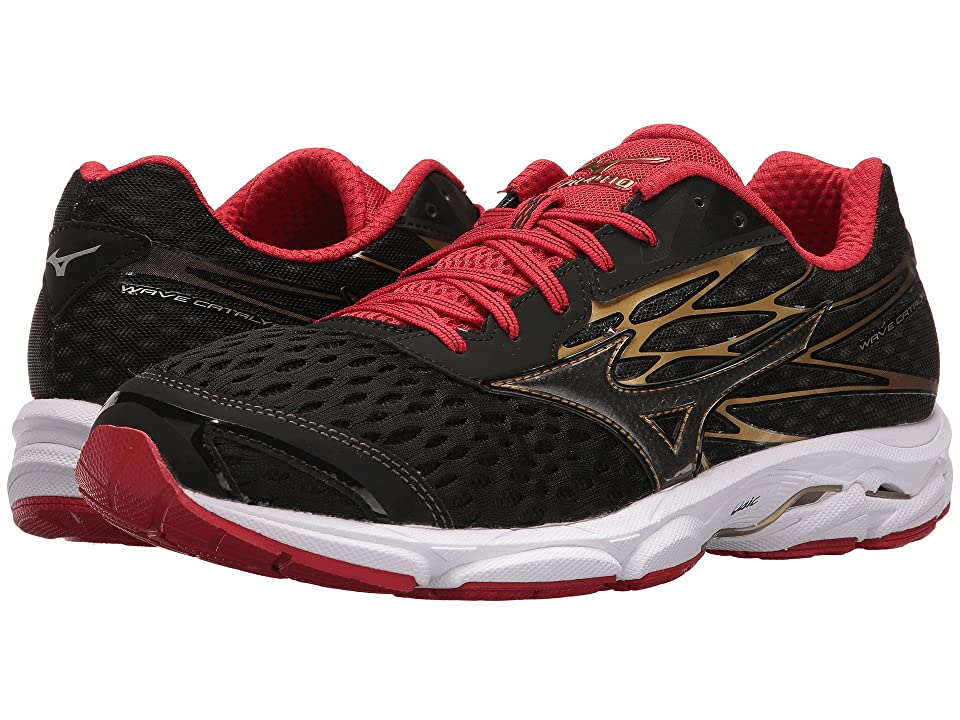 Mizuno Wave Catalyst 2 (Black/Chinese Red/Gold) Boys Shoes