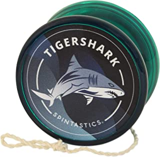 Green Spintastics Tigershark Professional Ball Bearing Yoyo with String